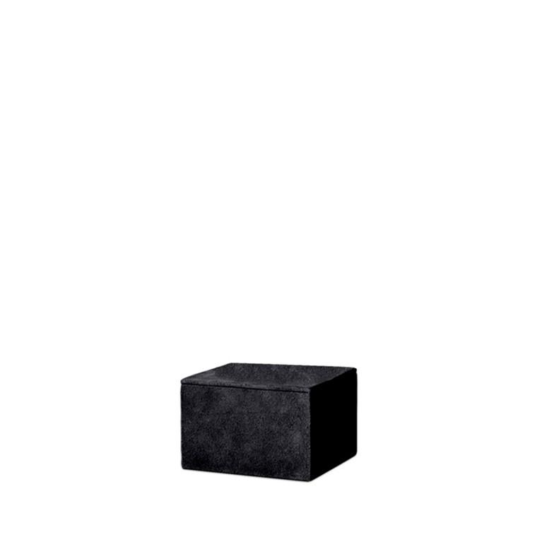 AMACE Suede Box graphite 14 x 14 x 10 cm