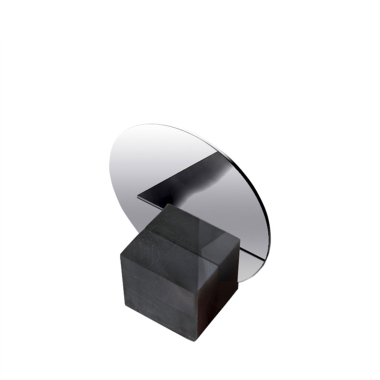 AMACE Stand Mirror graphite 14 x 17 cm
