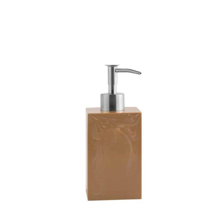 AMACE Soap Dispenser coral 7 x 7 x 18 cm