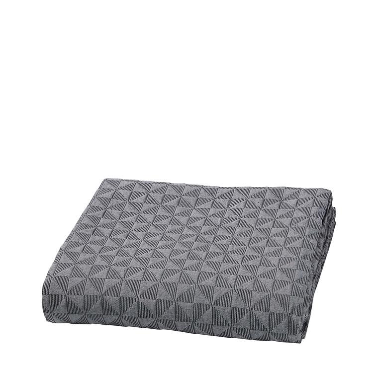 Mette Ditmer sengetæppe 250 x 240 cm sort