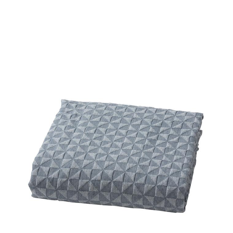 Mette Ditmer sengetæppe 250 x 190 cm blå