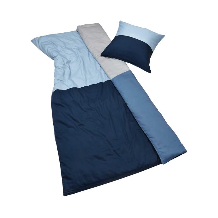 Mette Ditmer Domino sengelinned 140 x 220 cm natblå/lyseblå