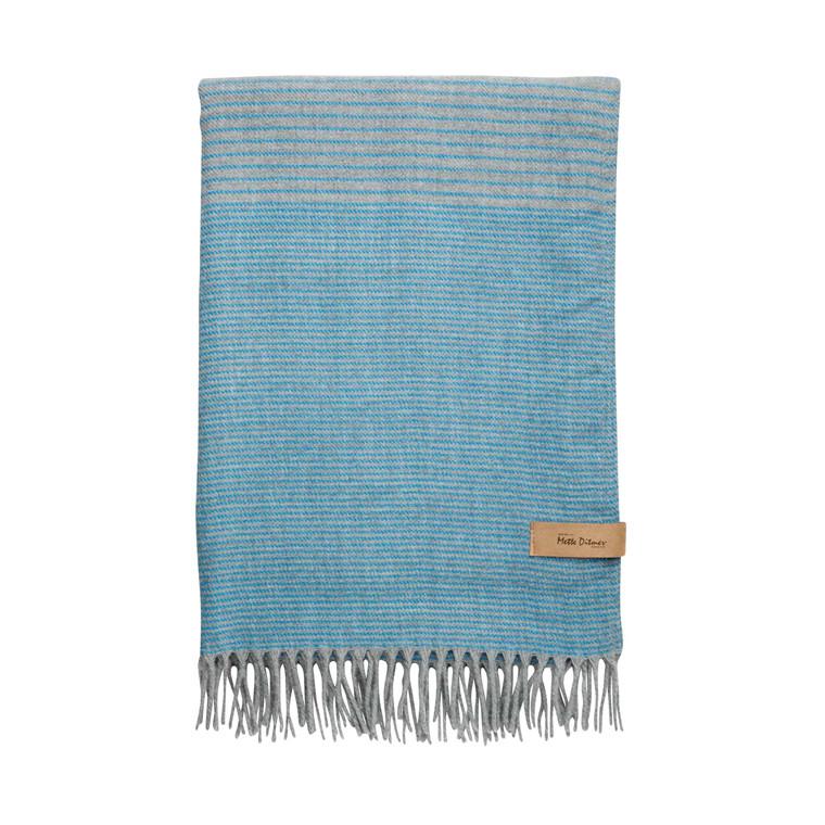 Mette Ditmer Plaid, 120x175, Grey/Blue