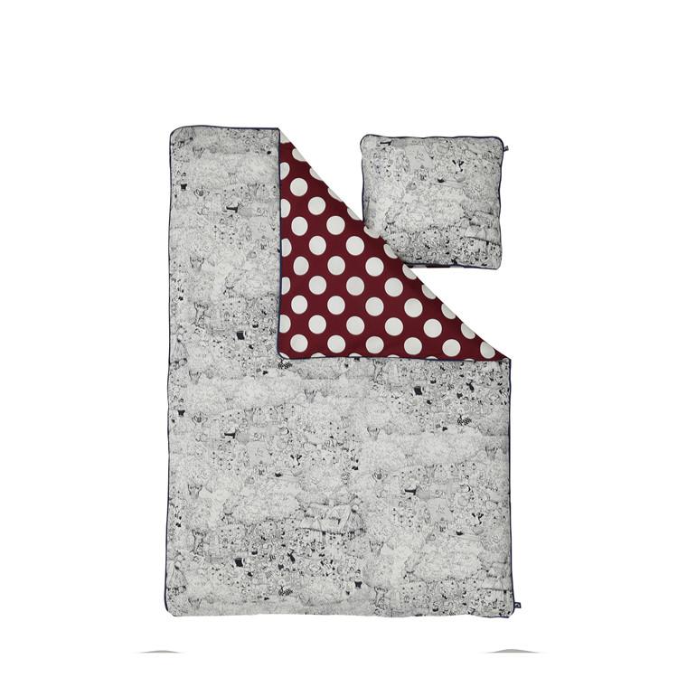 RASMUS KLUMP BY METTE DITMER junior sengelinned 100 X 140 cm rød