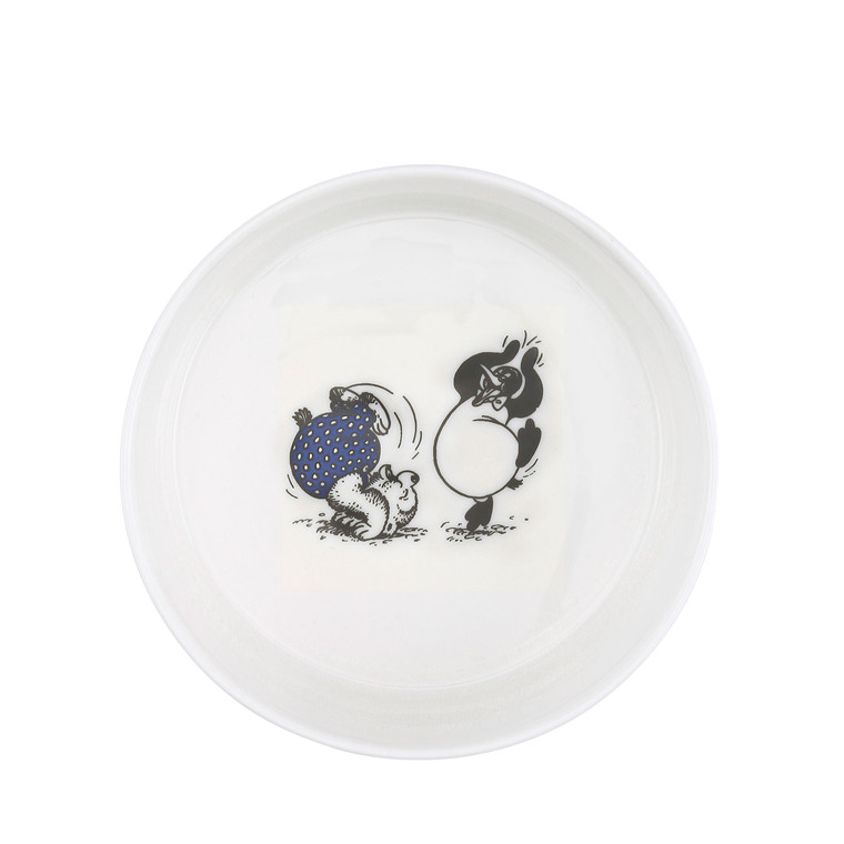RASMUS KLUMP BY METTE DITMER skål porcelæn m. sort/blåt print