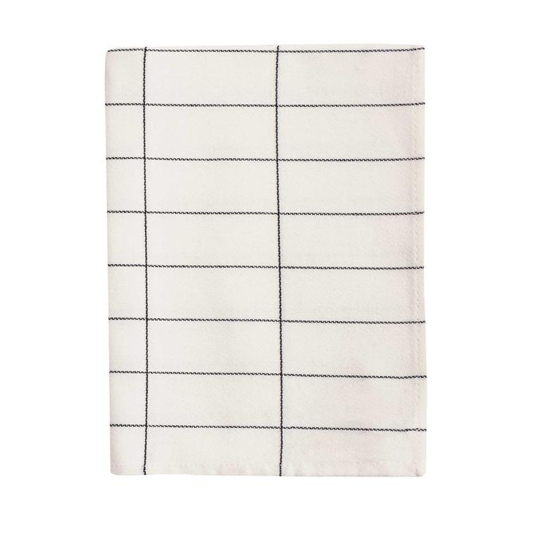 METTE DITMER viskestykke 50 x 90 cm sort/off-white