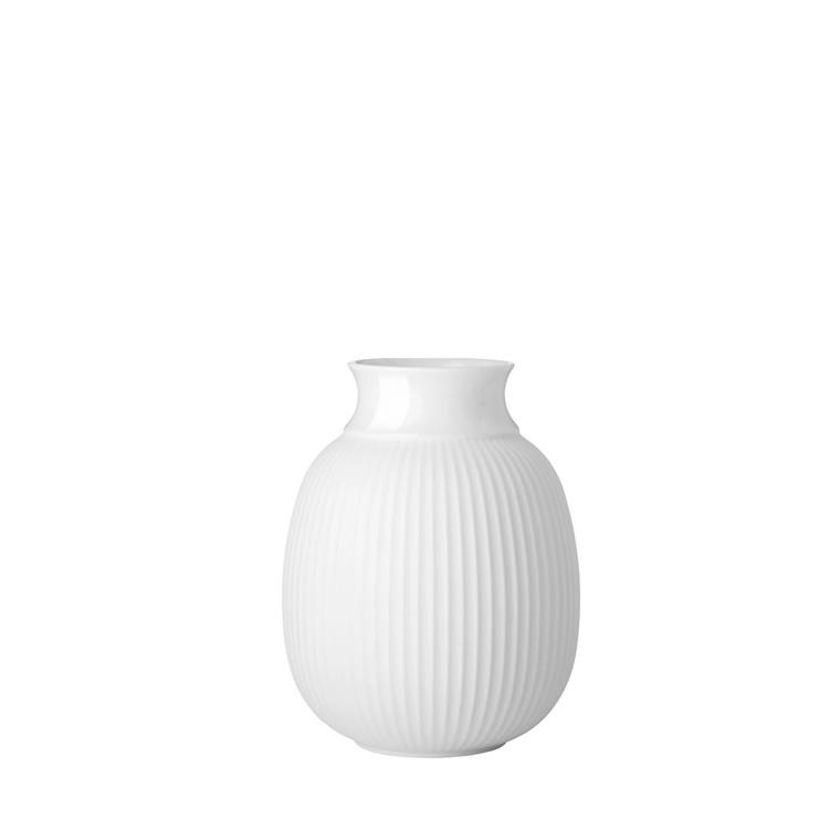 LYNGBY PORCELÆN Curve Vase H12 hvid