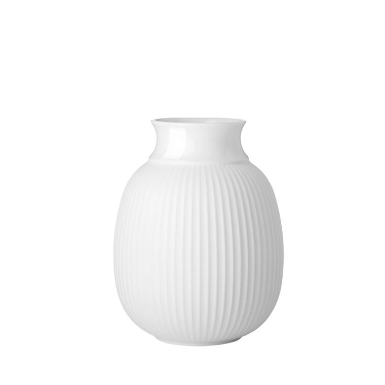 LYNGBY PORCELÆN Curve Vase H17,5 hvid