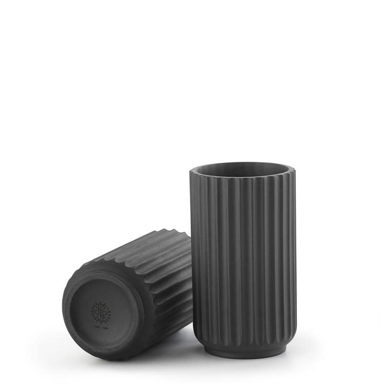 LYNGBY PORCELÆN Lyngby Vase 8 cm sort