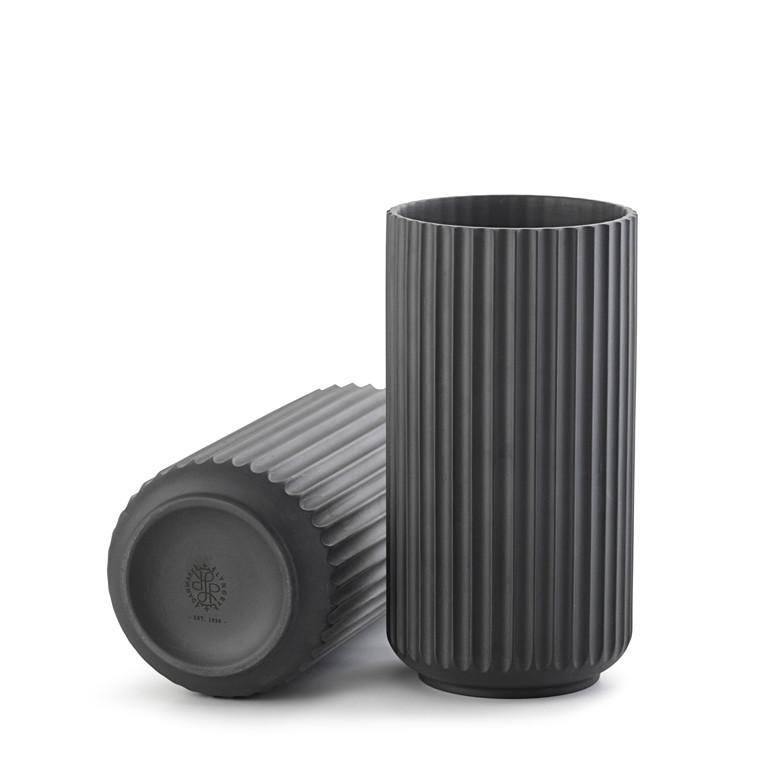 LYNGBY PORCELÆN Lyngby vase 20 cm sort