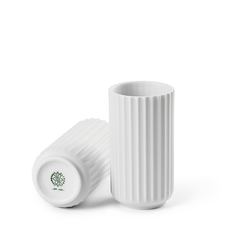 LYNGBY PORCELÆN Lyngby vase 12 cm mat hvid