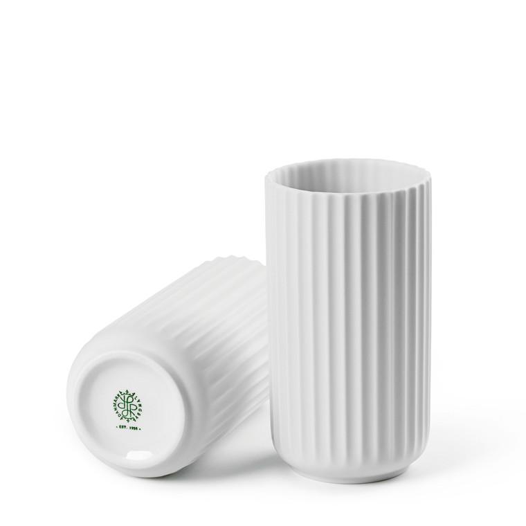 LYNGBY PORCELÆN Lyngby vase 15 cm mat hvid