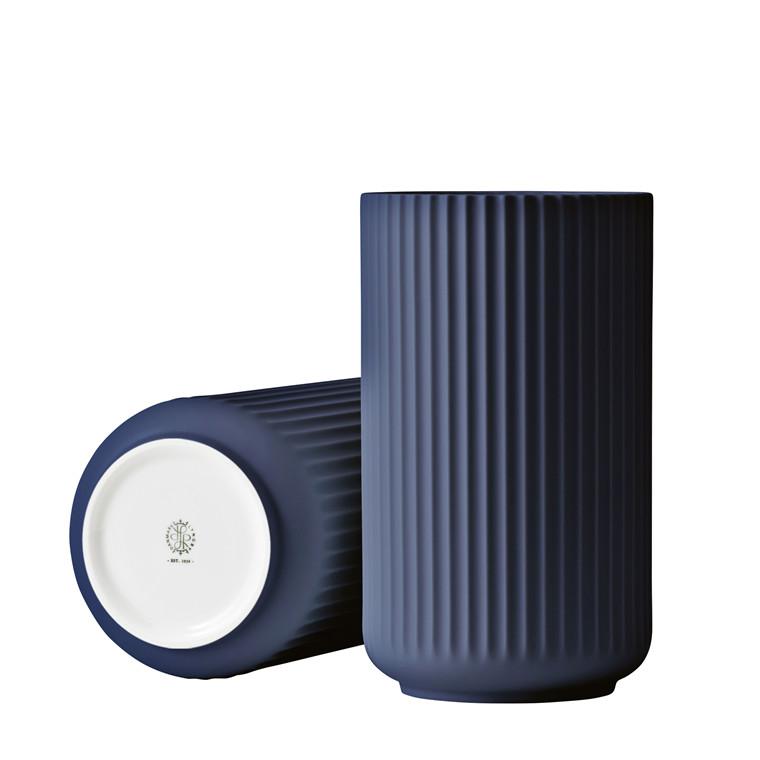 LYNGBY PORCELÆN Lyngby Vase 25 cm midnight blue