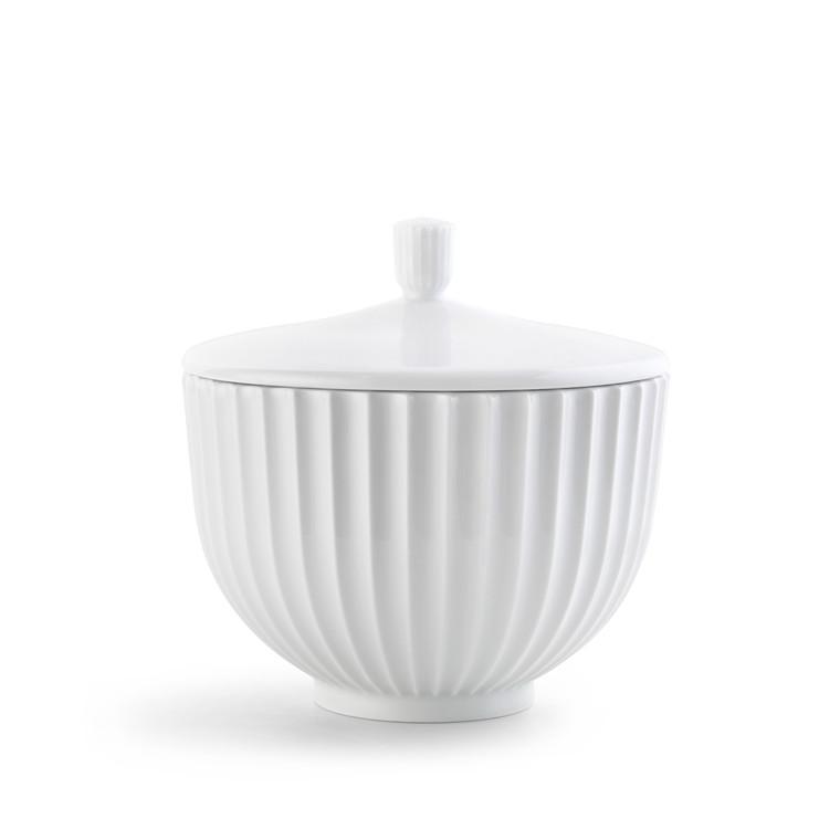 LYNGBY PORCELÆN Bonbonniere ø 14 cm hvid