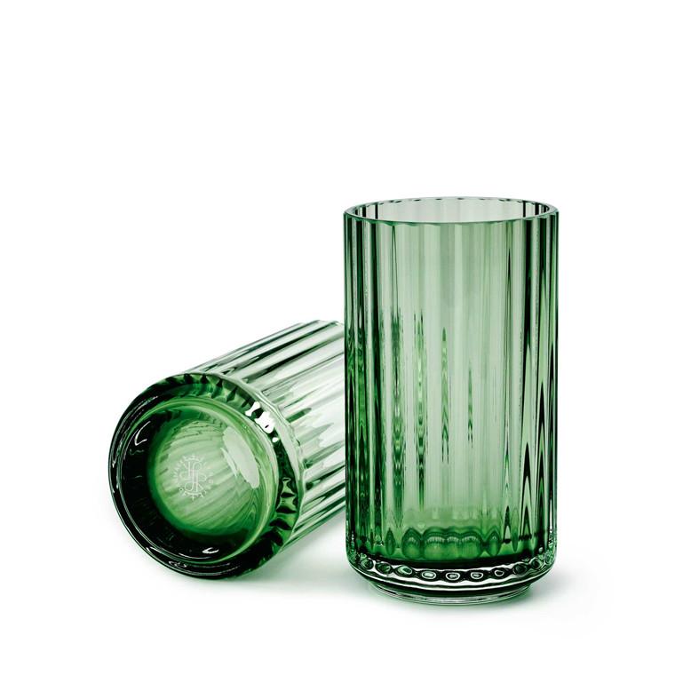 LYNGBY PORCELÆN Lyngby vase i glas 12 cm grøn