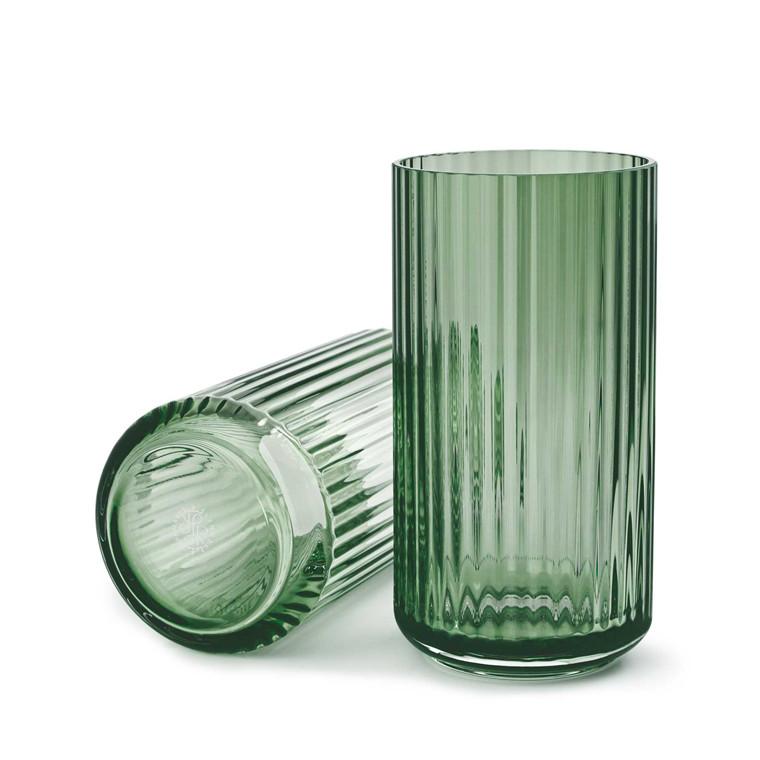 LYNGBY PORCELÆN Lyngby vase i glas 20 cm grøn