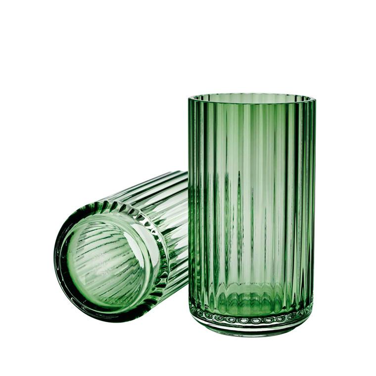 LYNGBY PORCELÆN Lyngby vase i glas 15 cm grøn
