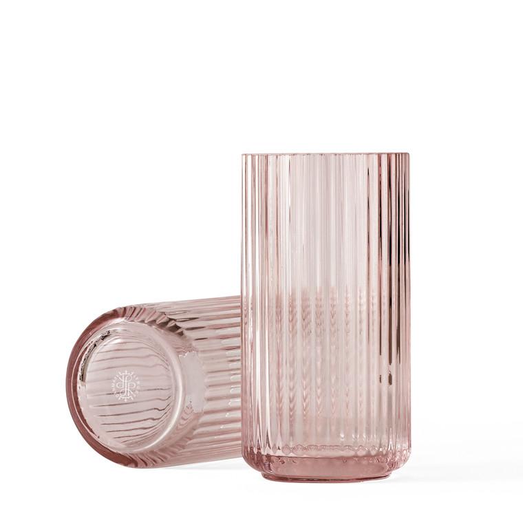 LYNGBY PORCELÆN Lyngby Vase i glas 15 cm burgundy