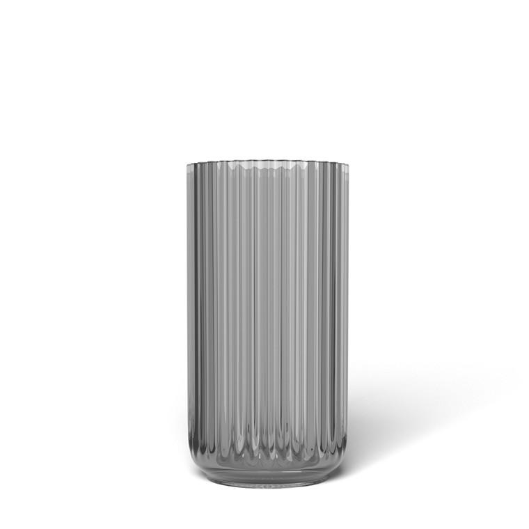 LYNGBY PORCELÆN Lyngby Vase i glas 15 cm smoke