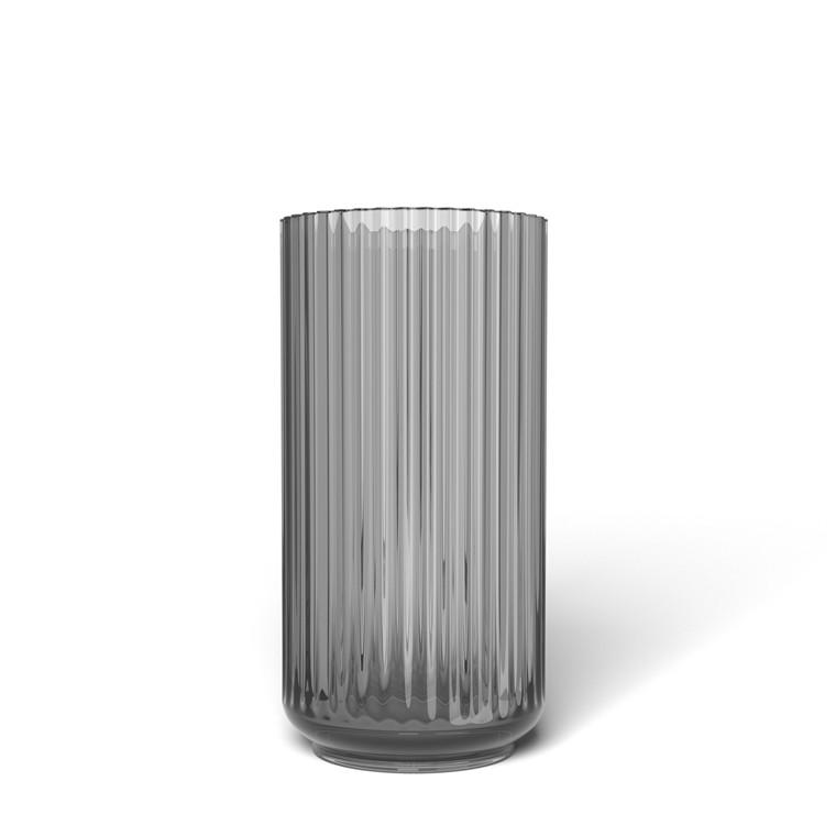 LYNGBY PORCELÆN Lyngby Vase i glas 20 cm smoke