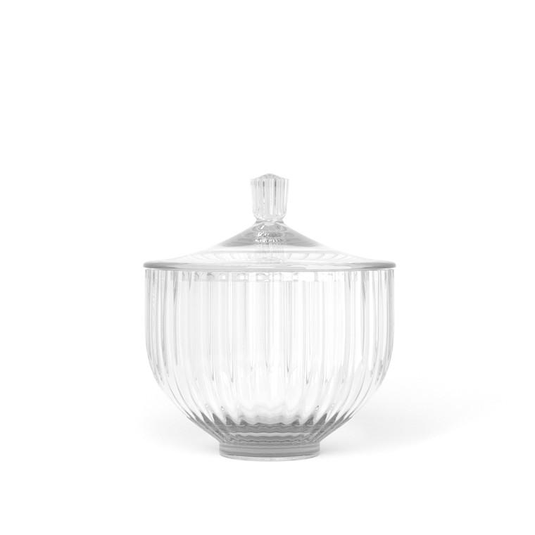 LYNGBY PORCELÆN Bonbonniere i glas ø 10 cm klar