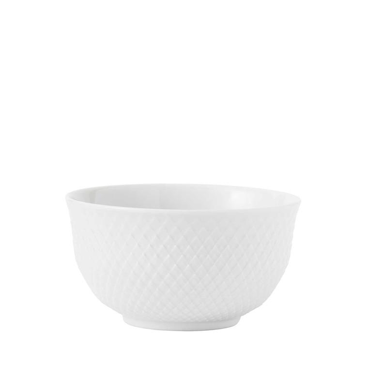 Lyngby Porcelæn Rhombe skål 35 cl hvid