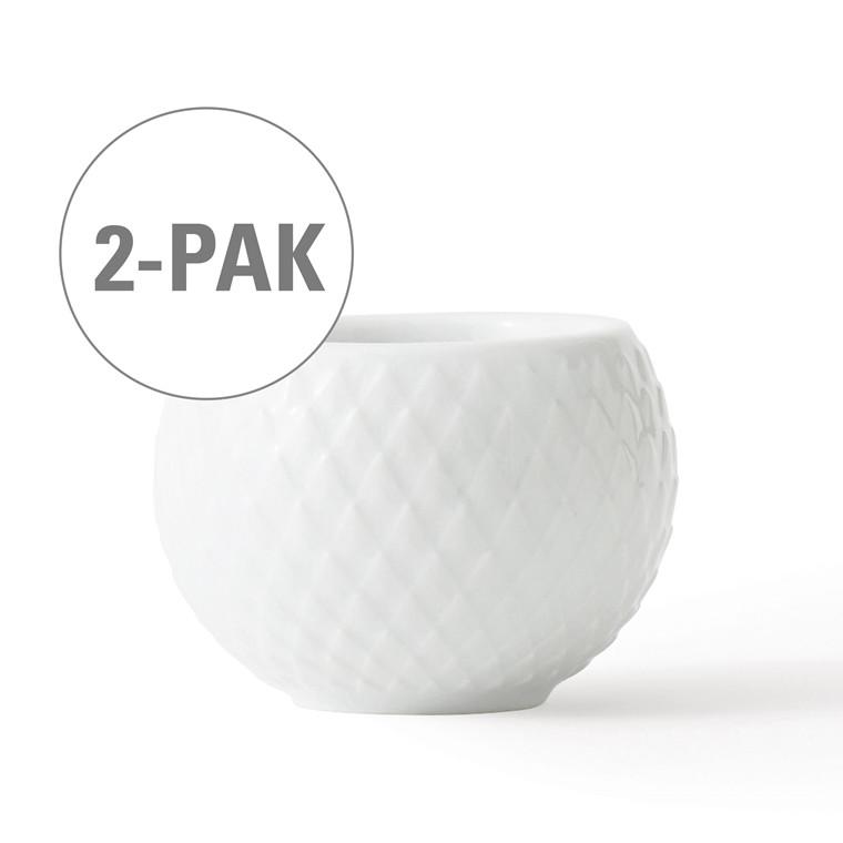 LYNGBY PORCELÆN Rhombe lysestage hvid