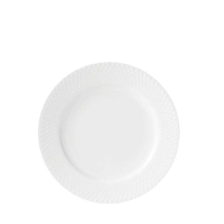 LYNGBY PORCELÆN Rhombe frokosttallerken ø 21 cm hvid
