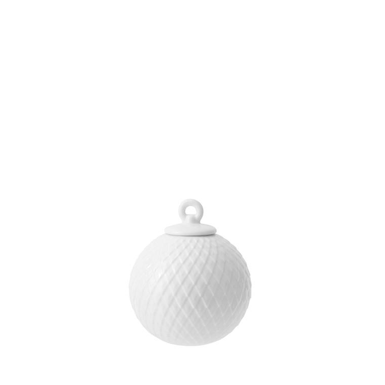 LYNGBY PORCELÆN Rhombe ophæng hvid