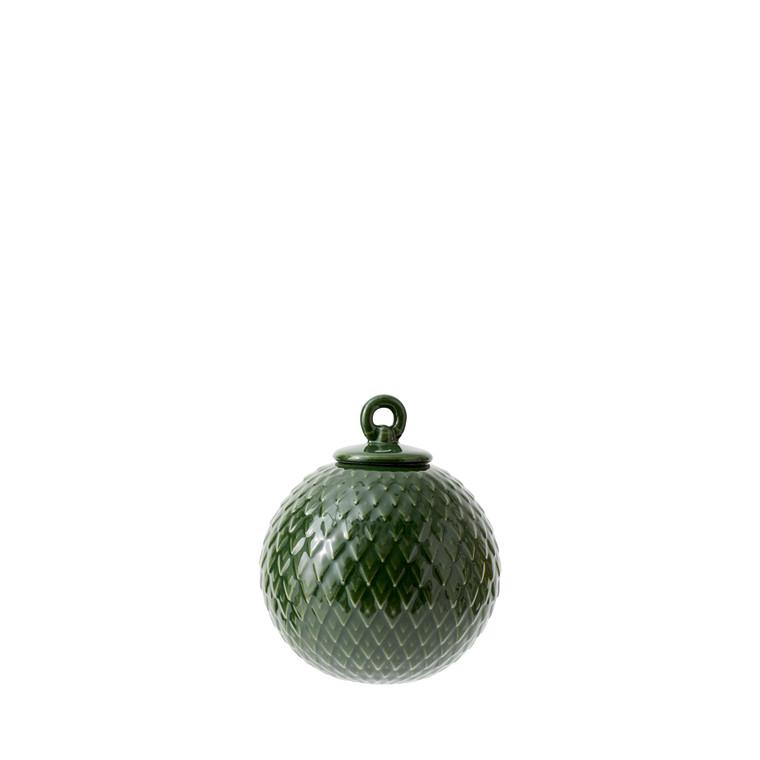 LYNGBY PORCELÆN Rhombe ophæng grøn