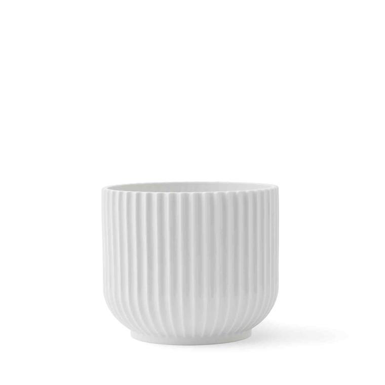 LYNGBY PORCELÆN Flower pot medium, white