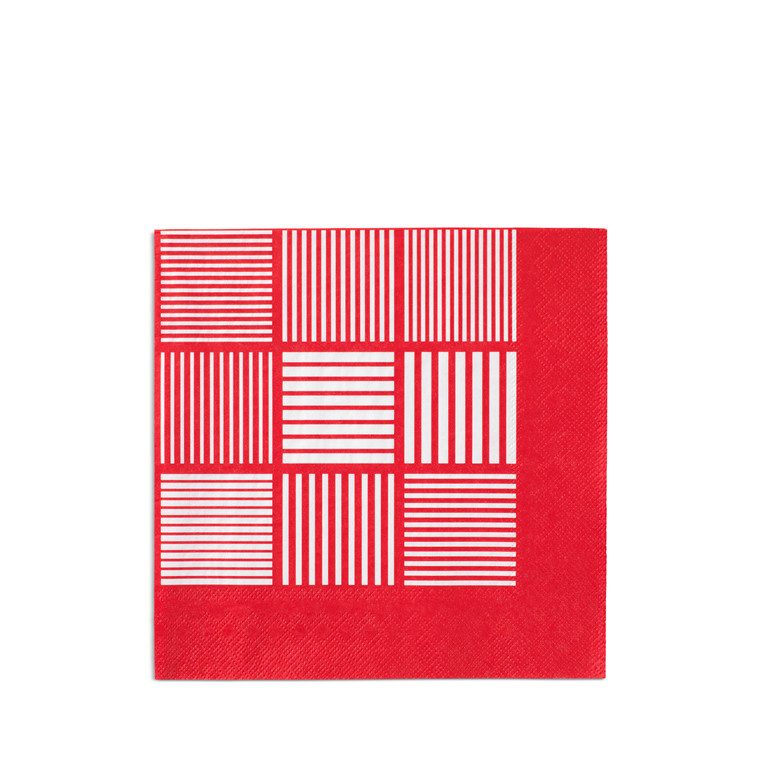 Rosendahl Nanna Ditzel papirserviet 20 stk rød