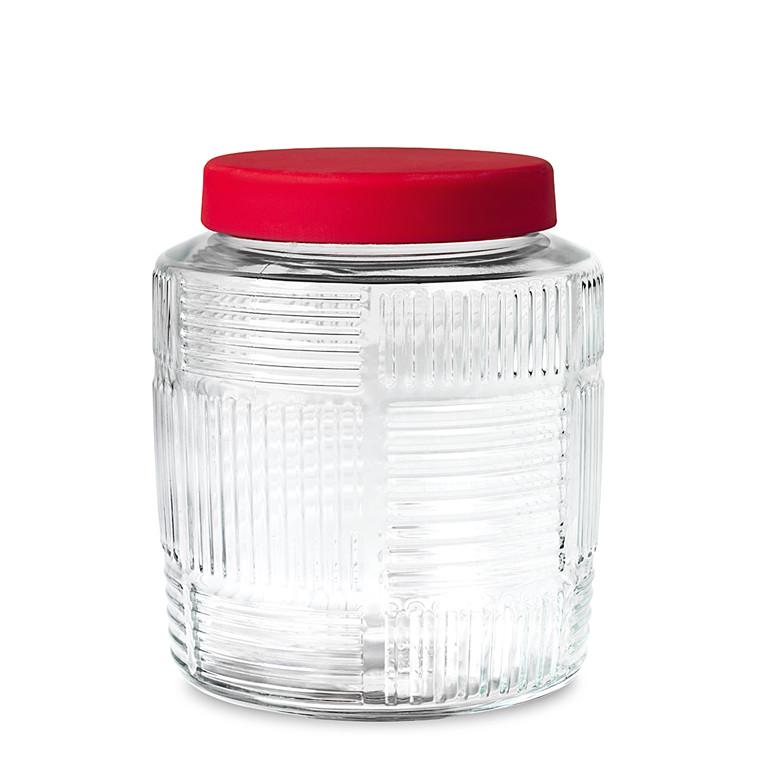 Rosendahl Nanna Ditzel opbevaringsglas 2,0 L rødt låg