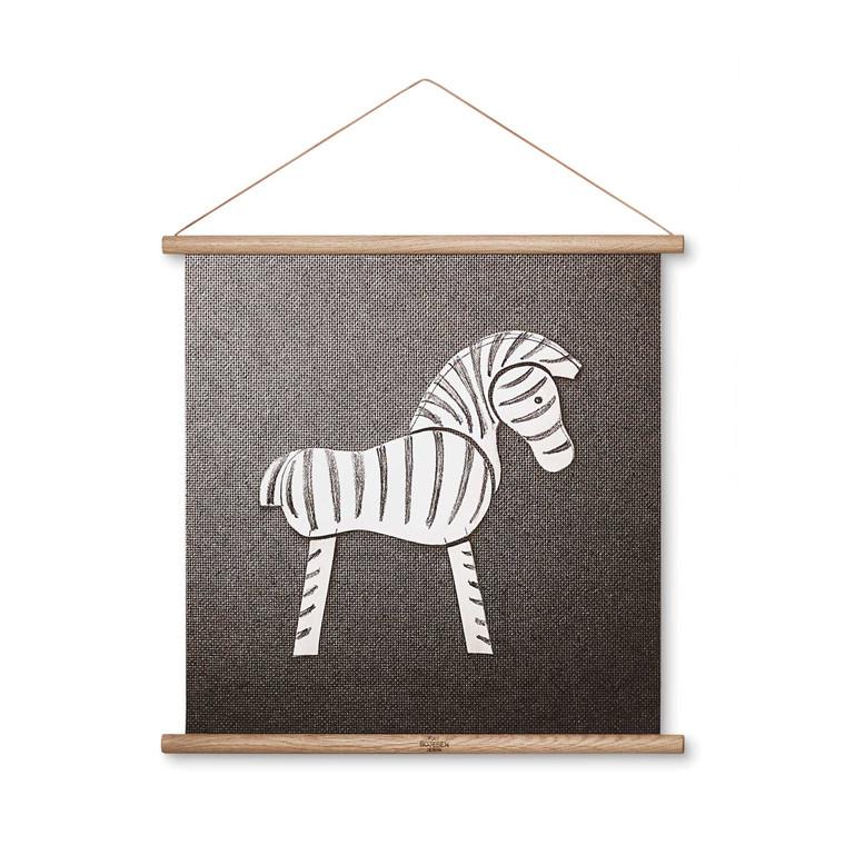 Kay Bojesen Zebra stregtegning 40 x 40 cm