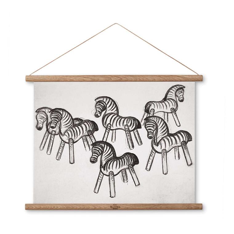 Kay Bojesen Zebra stregtegning 40 x 30 cm