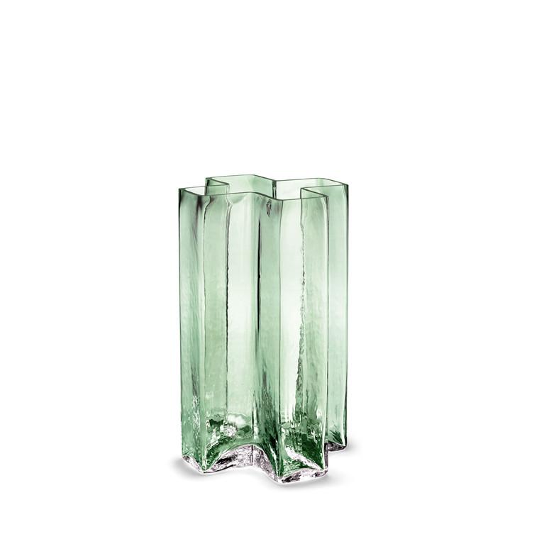 HOLMEGAARD Crosses Vase, grøn H 19,5 cm