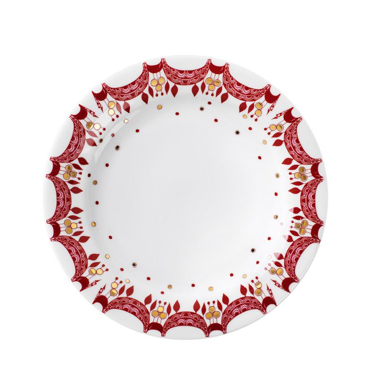 BJØRN WIINBLAD juletallerken rød Ø 20 cm