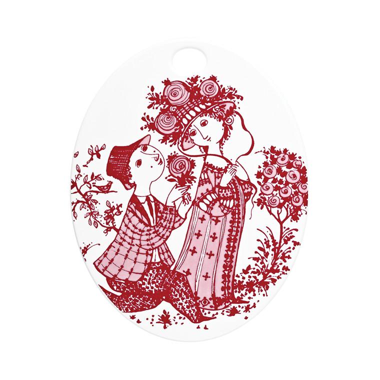 BJØRN WIINBLAD Roses oval platte rød
