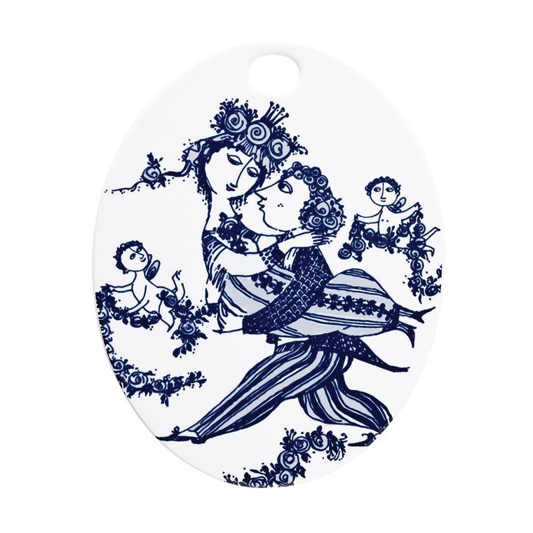 BJØRN WIINBLAD Victorie oval platte blå