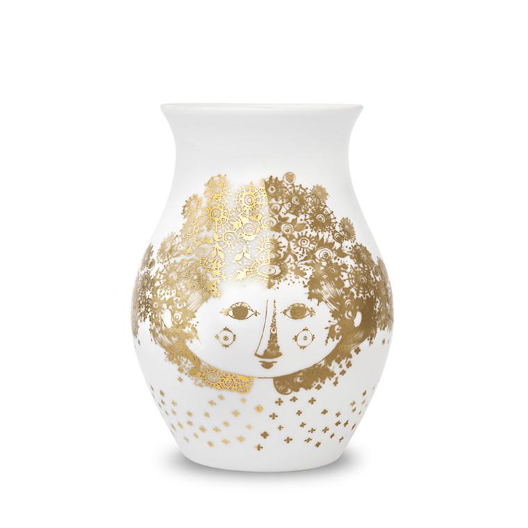 BJØRN WIINBLAD Felicia vase guld H 18 cm