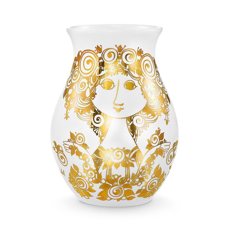BJØRN WIINBLAD Rosalinde vase guld H 26 cm