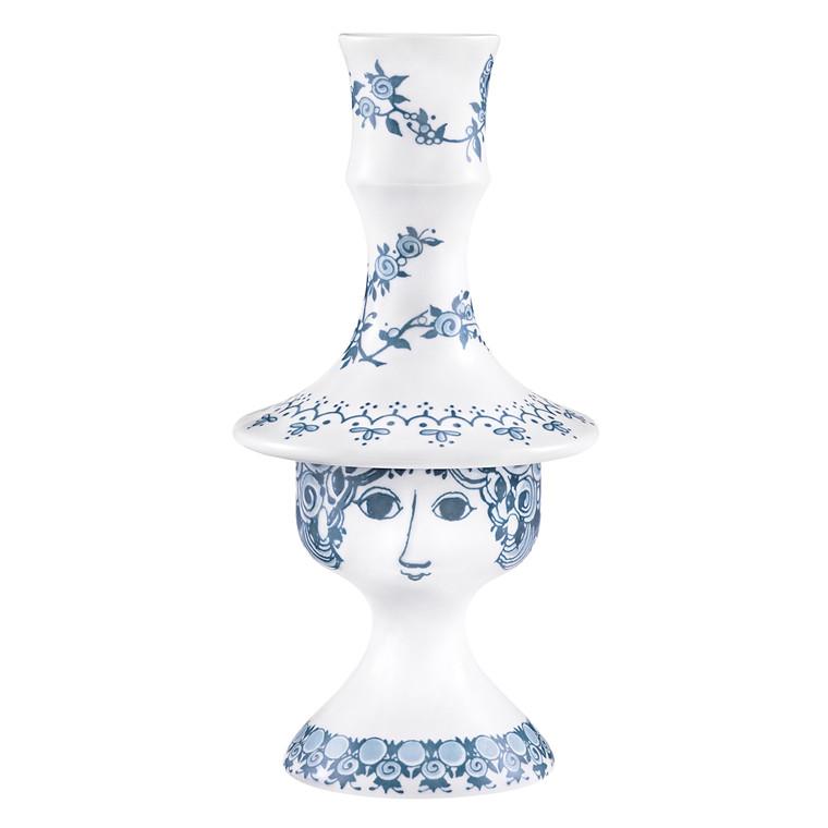 BJØRN WIINBLAD Lysestage Rosalinde støvet blå