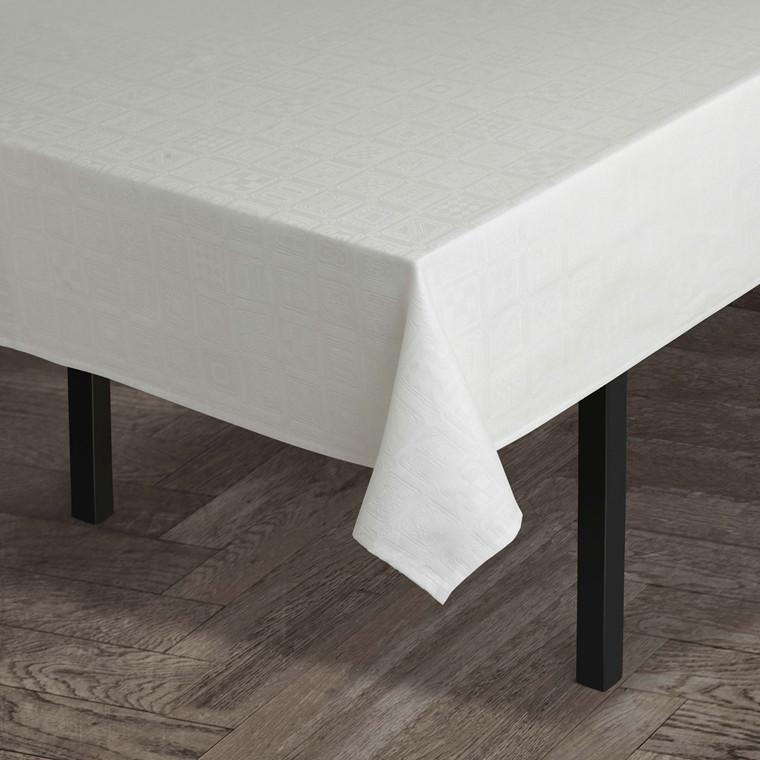 JUNA BW Squares Dug 150x180 cm hvid