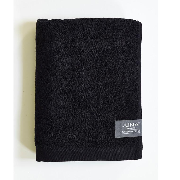 Juna Organic håndklæde 70 x 140 cm sort