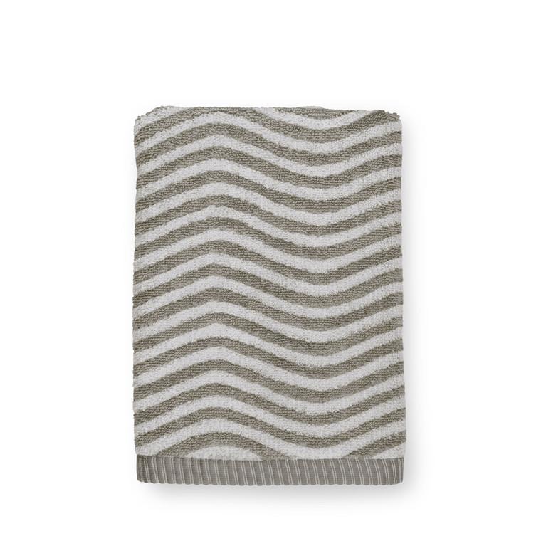 JUNA Ocean Håndklæde 50x100 cm mørk grå/lys grå