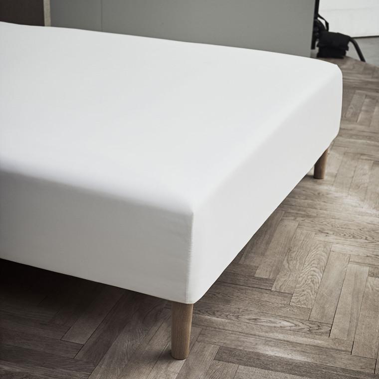 JUNA Boxlagen Percale 180 x 200 x 30 cm hvid