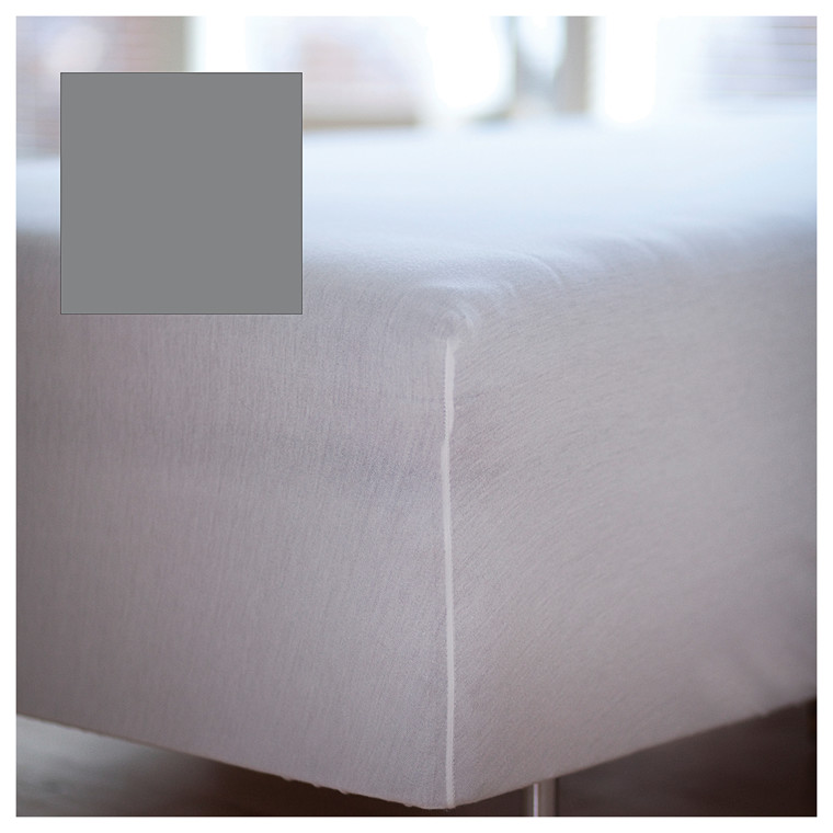 Juna Percale boxlagen 180 x 200 x 30 cm grå