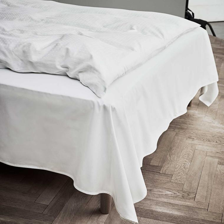 JUNA Percale lagen 150 x 250 cm hvid