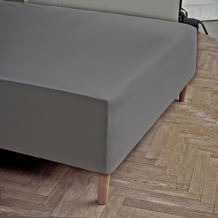JUNA jersey stræklagen 180 X 200 X 45 cm grå