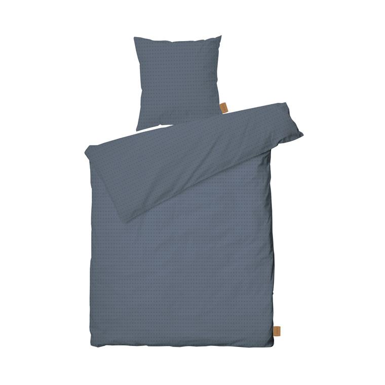 JUNA Cube sengelinned 140 x 200 cm støvet blå